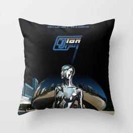 Skynet Rises Throw Pillow