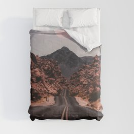 Road Red Moon Comforters