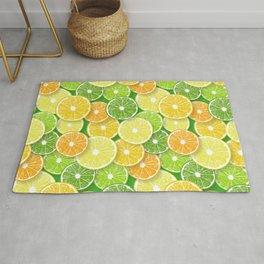 Citrus fruit slices pop art 3 Rug