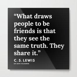 48    | 191121 | C. S. Lewis Quotes Metal Print