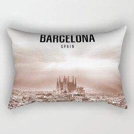Barcelona Wallpaper Rectangular Pillow
