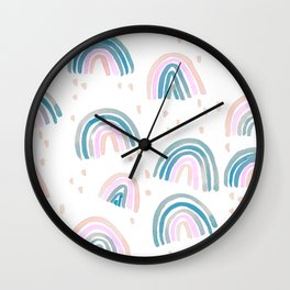 Rainbow Chroma Pastel Wall Clock