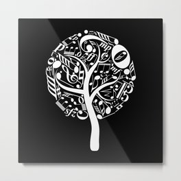 Invert music tree Metal Print