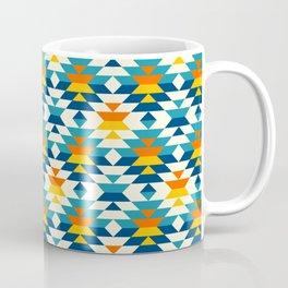 Bohemian large aztec diamonds blue pattern Coffee Mug