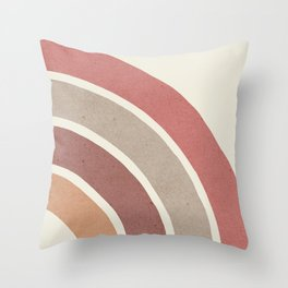 Abstract rainbow 2 Throw Pillow