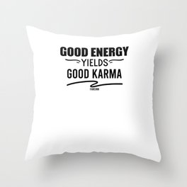 Power Yoga Karma Throw Pillow