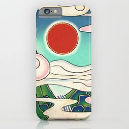 Minhwa: Sunrise (Korean Traditional Art) iPhone Case