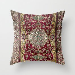 Farahan Arak West Persian Silk Rug Print Throw Pillow