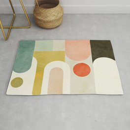geometry abstract pastel Rug