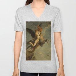 "Gustave Moreau ""The Chimera (La Chimère)"" Unisex V-Neck"