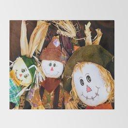 Scarecrow Selfie Throw Blanket
