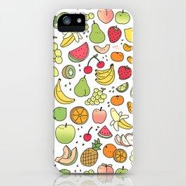Juicy Fruits Doodle iPhone Case