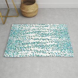 string of pearl watercolor Rug
