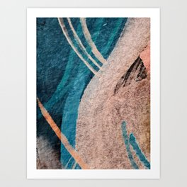 Dark Grace [1]: an abstract watercolor by Alyssa Hamilton Art Art Print