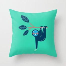 Sloth hanging Throw Pillow