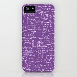 Physics Equations on Purple iPhone Case