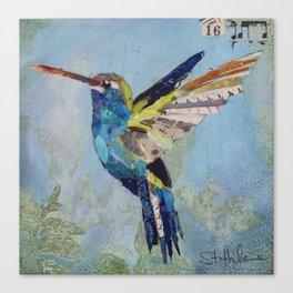 EN-1414 Blue Hummer Canvas Print