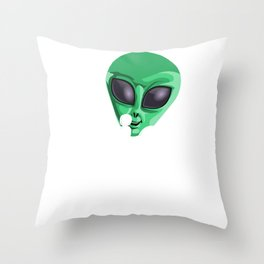 Alien Wife Funny UFO Extraterrestrial Space Throw Pillow