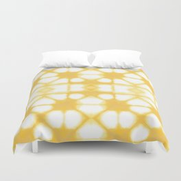 Shibori Ahi Yellow Duvet Cover