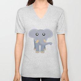 Cute Elephant Cartoon Unisex V-Neck
