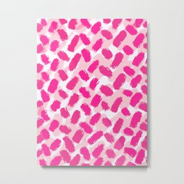 Strawberry Vanilla and Sprinkles Brushstrokes  Metal Print