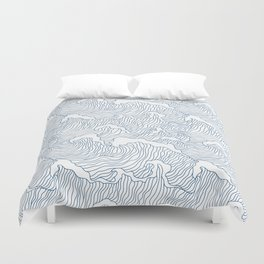 Japanese Wave Duvet Cover