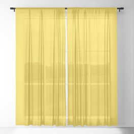 Solid Color Pantone Vibrant Yellow 13-0858 Sheer Curtain