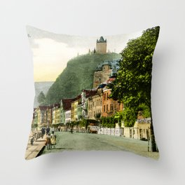 1900 Cochem Mosel Moselle Throw Pillow