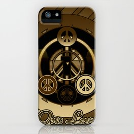 One Love (Brown) iPhone Case