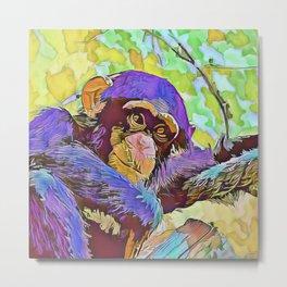 SmartMix Animal- chimpanzee 3 Metal Print