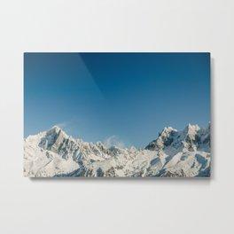 Snowy Mountains Chamonix Metal Print