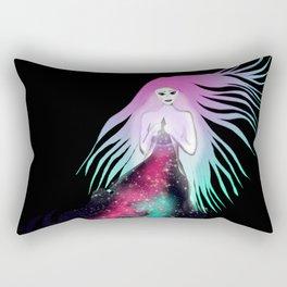 Naked When Baring The Soul Rectangular Pillow