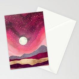 Scarlet Night Stationery Cards