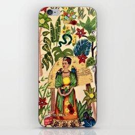 Frida's Garden, Casa Azul Lush Greenery Frida Kahlo Landscape Painting iPhone Skin