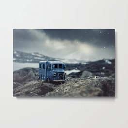 Little cars, Big Planet (Snow) Metal Print
