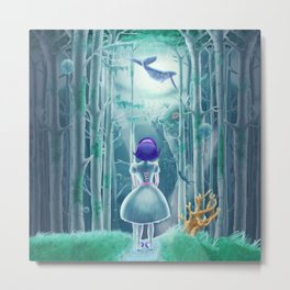 Girl under the sea Metal Print