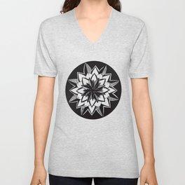 Black Mandala - Decoration - Circle Mandala - Mandala in Black Unisex V-Neck