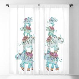 LUCKY ELEPHANTS Blackout Curtain