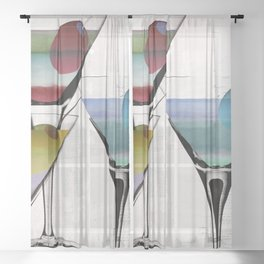 Martini Prism Sheer Curtain