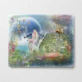 Butterfly Fairy Metal Print