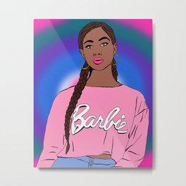 Black Barbie Metal Print