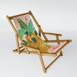 Cheetah Crush Sling Chair