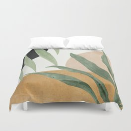 Abstract Art Tropical Leaves 4 Duvet Cover
