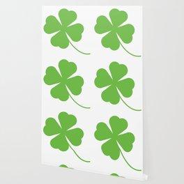Lucky Shamrock Clover Leaves Wallpaper
