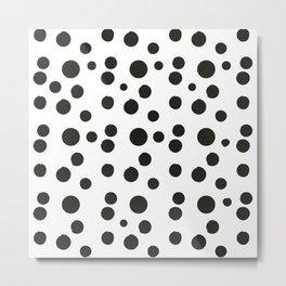 Black & white polka dot pattern Metal Print