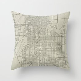 Vintage Map of Savannah Georgia (1917) Throw Pillow