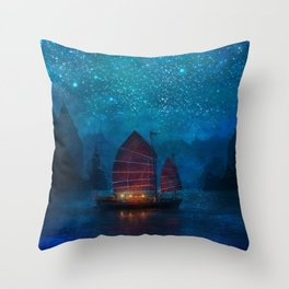 Our Secret Harbor Throw Pillow