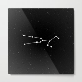 Taurus Star Sign Night Sky Metal Print
