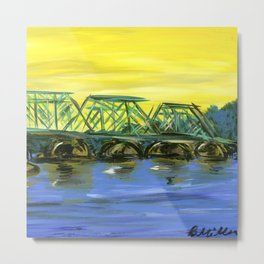 New Hope-Lambertville Bridge Metal Print