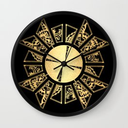 Lament Configuration Opened - Natural Wall Clock